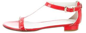 Salvatore Ferragamo Patent Leather T-Strap Sandals