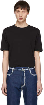 Helmut Lang Black Overlay Logo T-Shirt