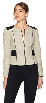 Calvin Klein Women's Novelty Zipper Front Jacket