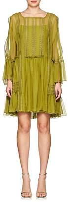 Alberta Ferretti Women's Silk Chiffon Tie-Shoulder Minidress