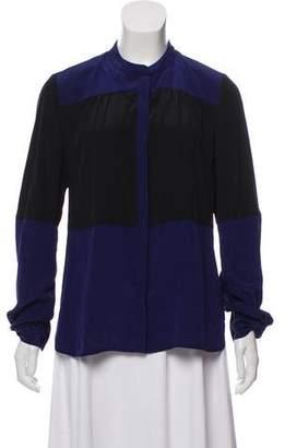 Diane von Furstenberg Two-Tone Silk Top