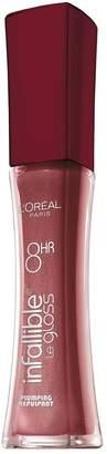 L'Oreal Infallible Never Fail Plumping Lip Gloss, 0.21-Fluid Ounce (Mauve)