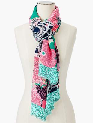 Talbots Pop Floral Woven Scarf