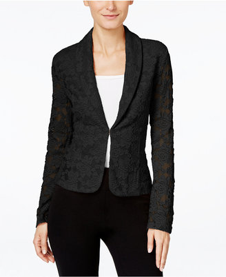 INC International Concepts Lace Blazer, Only at Macy's $79.50 thestylecure.com
