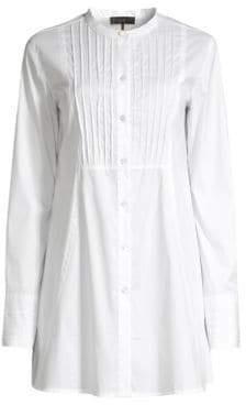 Donna Karan Women's Long-Sleeve Blouse - White - Size Medium