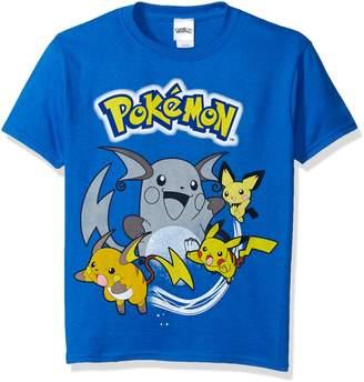 Pokemon Big Boys Pikachu Short Sleeve Tee, Royal