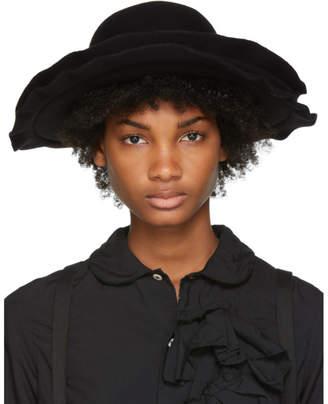 Comme des Garcons Black Scha Edition Double Brim Wool Felt Hat