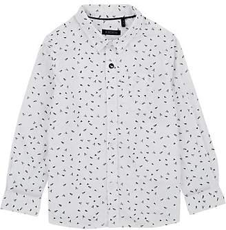 Ikks Kids' Plane-Print Cotton Shirt