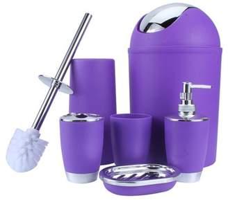 Qiilu Tumbler Toothbrush Holder, Soap Dish Dispenser, Household Bathroom Accessories Set, Cup, Toothbrush Holder, Soup Holder, Hand Sanitizer Bottle, Bins, Toilet Brush Included