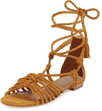 Joie Falk Lace-Up Flat Sandal $288 thestylecure.com