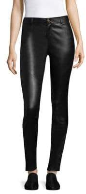 Lafayette 148 New York Women's Nappa Leather Mercer Pants - Black - Size 2