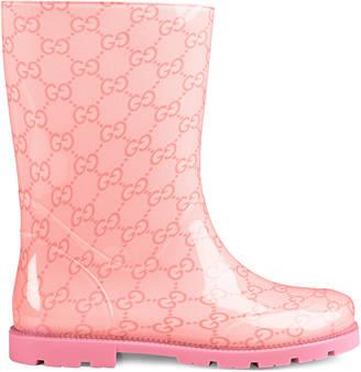 Children's GG rubber rain boot $145 thestylecure.com