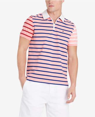 b87d0483 Tommy Hilfiger Men Daniel Regular-Fit Colorblocked Stripe Logo Polo