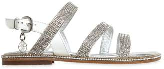 Miss Blumarine Embellished Patent Leather Sandals