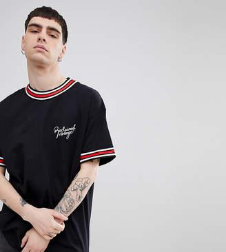 Reclaimed Vintage inspired ringer t-shirt in black