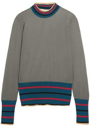 Marni Striped Intarsia-Knit Sweater