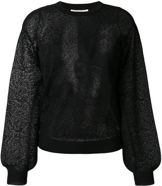 MICHAEL Michael Kors floral pattern sweatshirt
