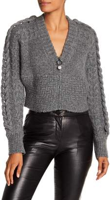Opening Ceremony Oversized Cable Wool Blend Cardigan