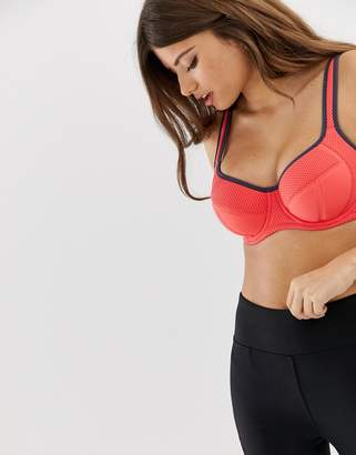 Pour Moi? Pour Moi Energy underwire sports bra in coral