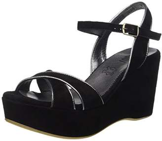 Shoot! SHOOT Women's Shoes SH-215037 Damen Plateau Leder Pumps Ankle Boots Pumps Black Size: