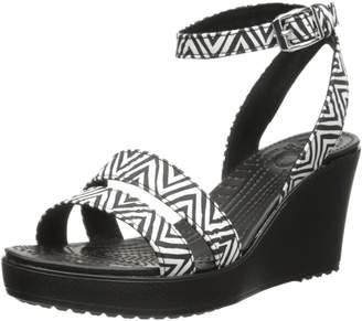 Crocs Women's 15313 Leigh Graphic Wedge Sandal