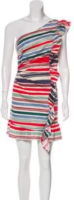 Red Carter Striped Mini Dress