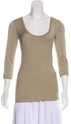 Donna Karan Three-Quarter Sleeve T-shirt