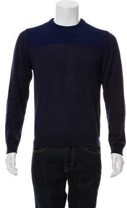 Calvin Klein Collection Colorblock Crew Neck Sweater