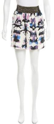 Charlotte Ronson Silk Mini Skirt