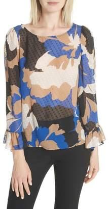 Tracy Reese Flounced Silk Top