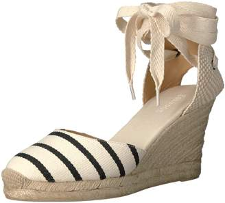 Soludos Women's Striped Tall (90mm) Wedge Sandal