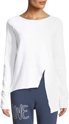 Frank And Eileen Asymmetric Cotton Sweatshirt, White