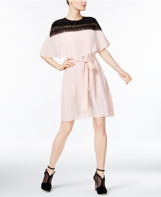 YYIGAL Lace-Yoke Capelet Dress, a Macy's Exclusive Style $139 thestylecure.com