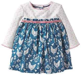 Boden Mini Baby Pointelle Dress, Azure Blue