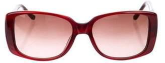 Judith Leiber Square Gradient Sunglasses