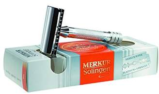 Merkur 3-Piece Double Edge Safety Razor, Closed Comb (33001 or 33C), Polished Chrome