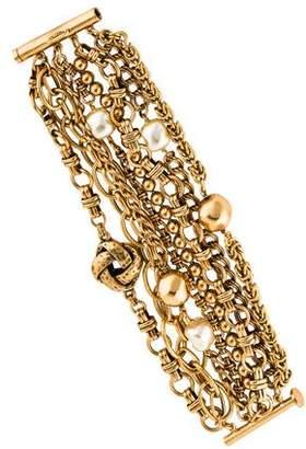 Oscar de la Renta Faux Pearl Multistrand Bracelet