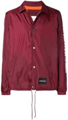CK Calvin Klein sleeve logo coach jacket