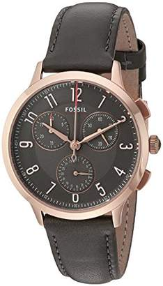 Fossil Women's CH3099 Abilene Sport Chronograph Gray Leather Watch