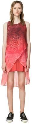 Desigual Short Sleeveless Graphic Print Shift Dress