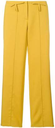 Valentino bow detail flared trousers