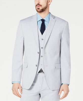 Alfani Red Men Slim-Fit Performance Stretch Wrinkle-Resistant Light Gray Suit Jacket