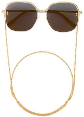 Stella McCartney Eyewear chain trim strap square sunglasses