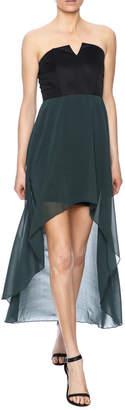 Lovey Dovey Chiffon High/Low Dress