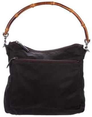 Gucci Nylon Bamboo Handle Bag