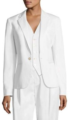 Polo Ralph Lauren Stretch-Cotton Twill Blazer $398 thestylecure.com