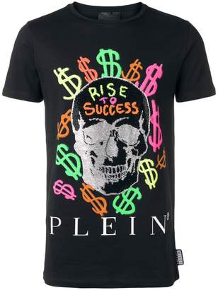 Philipp Plein Graffiti Skull T-shirt