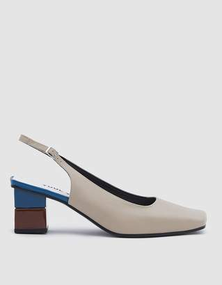 BEIGE Yuul Yie Square Toe Slingback in Light