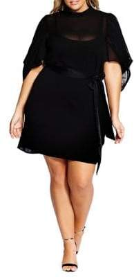City Chic Plus Embrace Belted Dress