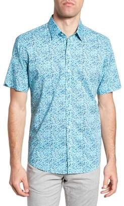 Zachary Prell Kincaid Scribble Print Sport Shirt